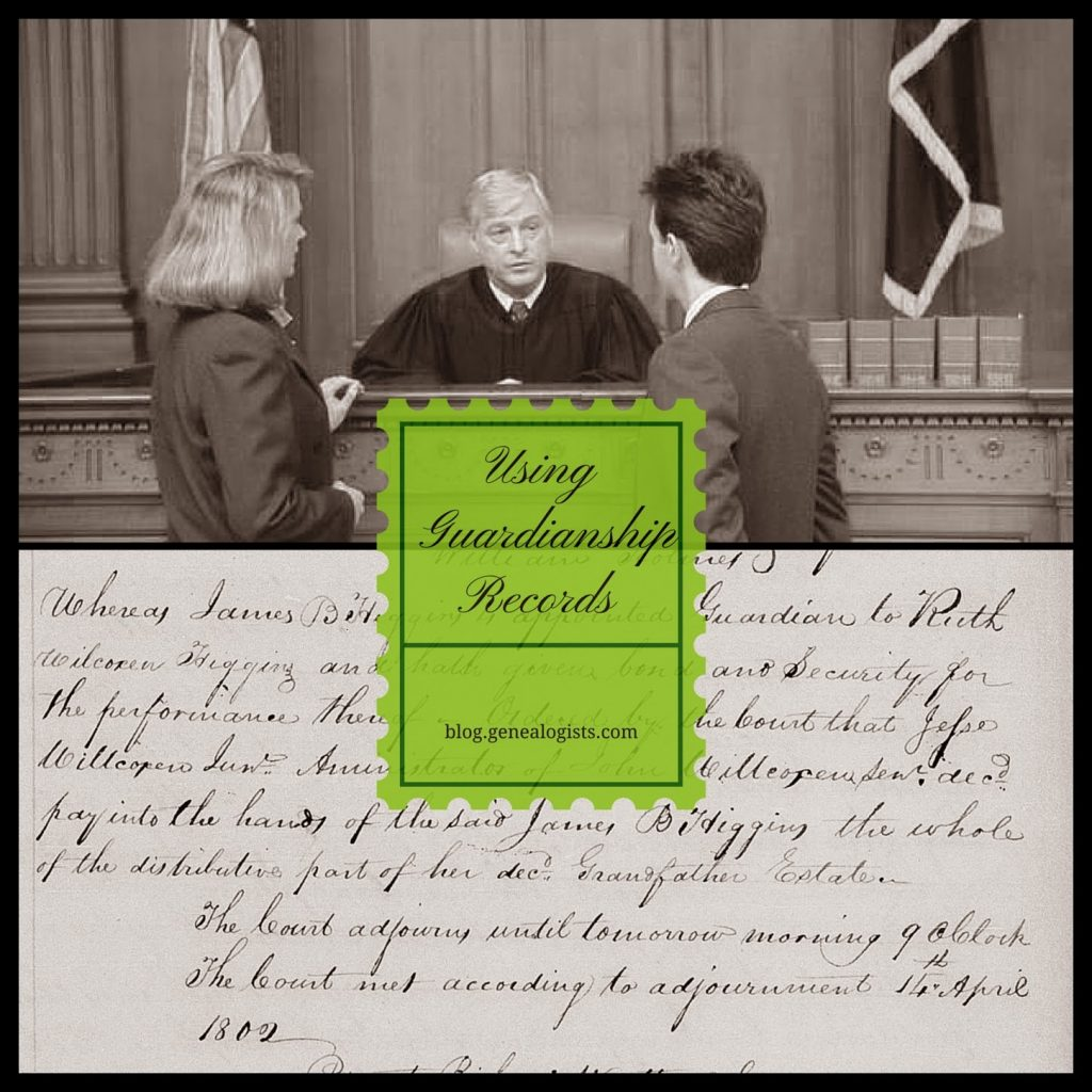 how-to, guardianship, records, genealogy, Sweeney, Wilcoxon