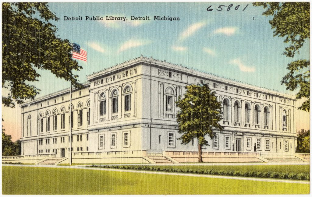 Our Michigan Genealogists at Trace have access to the Detroit Public Library, Michigan.