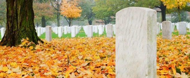 Cemetery rituals, fall cemetery