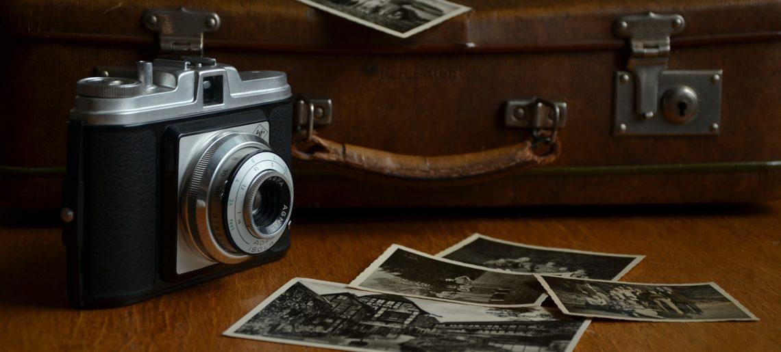 Preserving family photos, antique camera