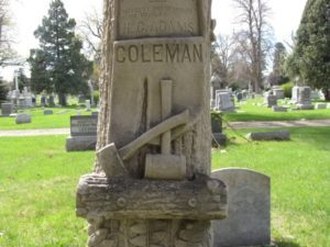 Woodsman of the World headstone