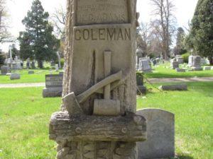 Woodsman of the World headstone