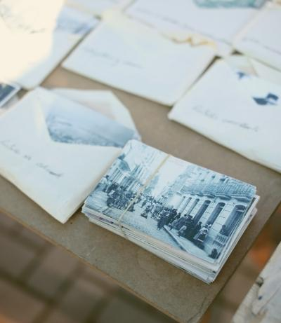 Sorting old photographs, family photos, Save Antique Photos, Letters and Documents