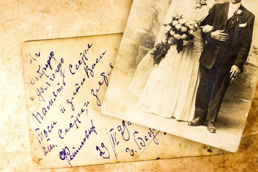 Old photographs, family photographs, wedding photos, Save Antique Photos, Letters and Documents